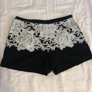 Gorgeous One Market black and lace shorts